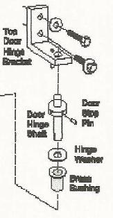 True Refrigerator Upper Hinge