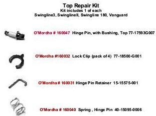 Ardco Door Top Repair Kit