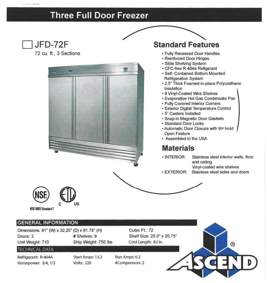 JFD 72-F Spec Sheet