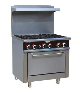 6 Burner LP Gas Range